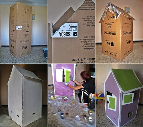casita carton diy