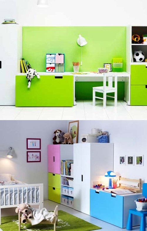 muebles infantiles stuva de ikea decopeques. Black Bedroom Furniture Sets. Home Design Ideas