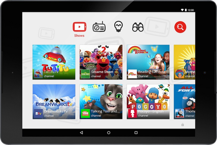 La App de YouTube Kids para ver sus vídeos favoritos