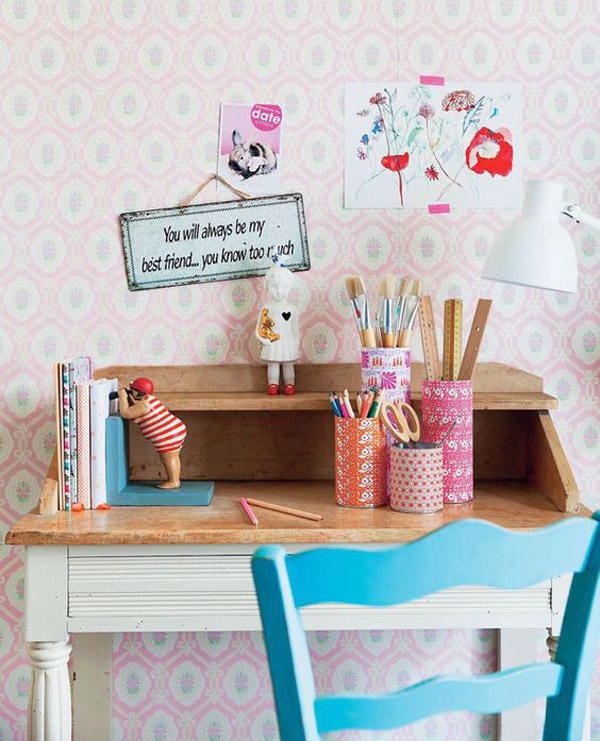 Escritorios infantiles 24 ideas y fotos inspiradoras for Decoracion de escritorios